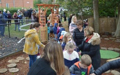 Outdoor preschool classroom will promote environmental learning, imaginative play